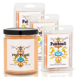 4 pack- Patchouli Melts & Candle- The Candle Daddy